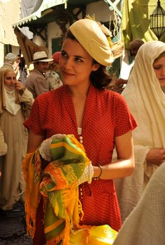 Sira Quiroga y su precioso vestido de lunares. :-)