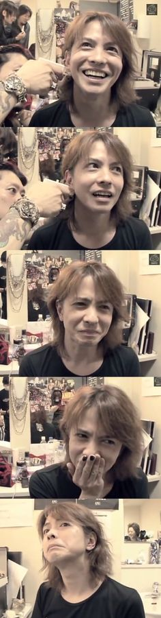 Hyde is taking earring, poor man x)