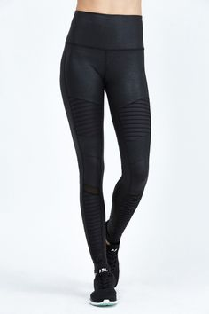 High Waist Moto Legging by Bandier