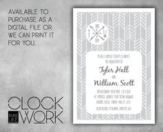 Engagement Invitations Party Printed or by RunsLikeClockwork