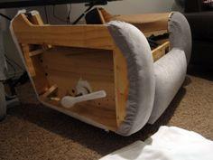 taking apart a lazyboy recliner seat bottom set screws techniques tutorials more to diy. Black Bedroom Furniture Sets. Home Design Ideas