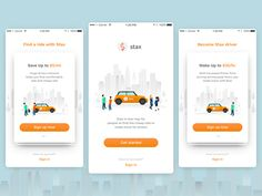 Taxi App Welcome Screens