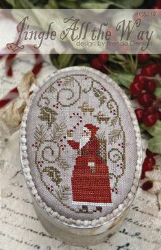 NEW Peppermint Jingle All the Way counted cross stitch patterns by With Thy Needle at thecottageneedle.com Christmas by thecottageneedle