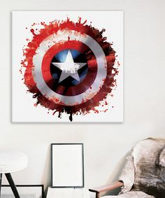Look what I found on #zulily! Captain America's Shield Gallery-Wrapped Canvas by Avengers #zulilyfinds