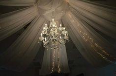 Large vintage bling chandelier