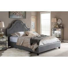 Shop for Baxton Studio Colchester Grey Linen Modern Platform Bed. Get free shipping at Overstock.com - Your Online Furniture Outlet Store! Get 5% in rewards with Club O!