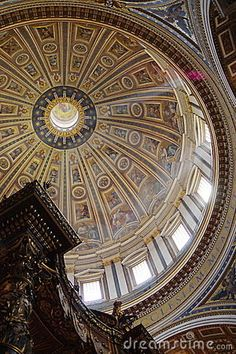 Dome Roof Design, Ceiling Design, French Classic, Roof Window, Stock Foto, Ceilings, Wallpaper Backgrounds, Interior Architecture, Illusions