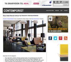 Rica Hotel Narvik Interior by Scenario Interiørarkitekter Narvik, Design Art, Architecture Design, Interior, Blog, Architecture Layout, Indoor, Blogging, Interiors