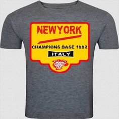 This gray, round neck and half-sleeved T-shirt is meant for Champions. The graphic design in light yellow and red stand out with your persona.