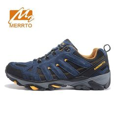 MERTTO Mens Senderismo Leather Outdoor Trekking Hiking Shoes Sneakers For Men Sport Climbing Mountain Shoes Man New Arrivals