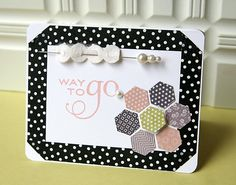 Way To Go Card by Danielle Flanders for Papertrey Ink (June 2012)