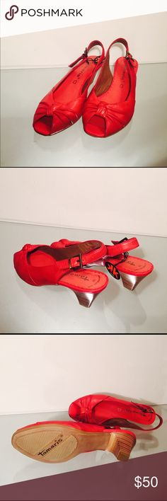 Tamaris shoes Tamaris Women's Sandal. Leather. Size: 38 (Euro), 8 - 8.5 (US). New. Tamaris Shoes Sandals