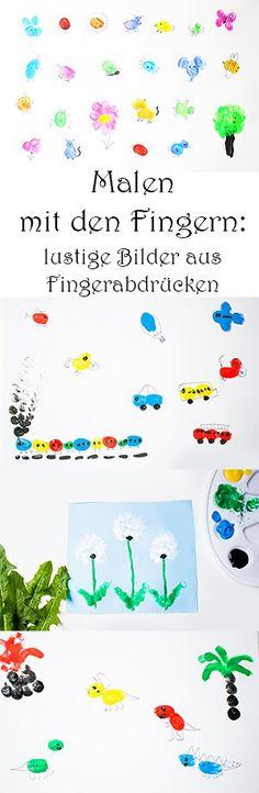 Malen mit den Fingern: lustige Bilder aus Fingerabdrücken