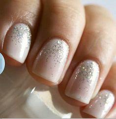 The perfect amount of sparkle for a wedding day manicure | LWD Bridal Stylist Talia Shares Her Dream Wedding Inspiration | Little White Dress Bridal Shop: Denver Bridal Gowns & Wedding Dresses www.lwdbridal.com