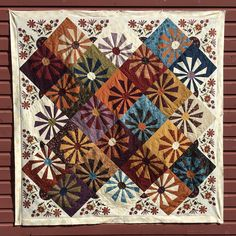 "Janet Rae Nesbitt on Instagram: ""Just finished this quilt using my Bachelor Buttons block from The Completely Crazy book and used the panel from my newest fabric line,…"" Crazy Home, Bachelor Buttons, American Quilt, Amish Quilts, Hand Applique, Quilt Sizes, Blue Bags, Fabric Flowers, Flower Power"