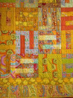 "close up, quilt by Kaffe Fassett.  Photo by Jilly Harris: Kaffe Fassett Exhibition ""A life in colour'"