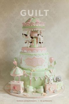 Carousel for Scarlett - Cake by guiltdesserts