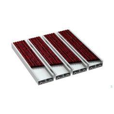 Wycieraczka aluminiowa ALFA XL 19 mm wkład tekstylny szeroki Tray, Trays, Board