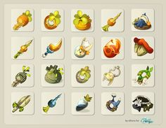 Wakfu items by sandrine vanneste, via Behance