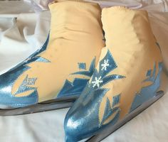 Elsa Frozen Inspired Figure Skate Boot Covers/ Figure Skating Costume/Ice Skating/Roller Skating Competition