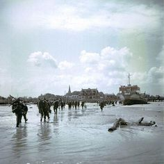 Canadian forces land on Juno beach during the D-Day invasion of Normandy.