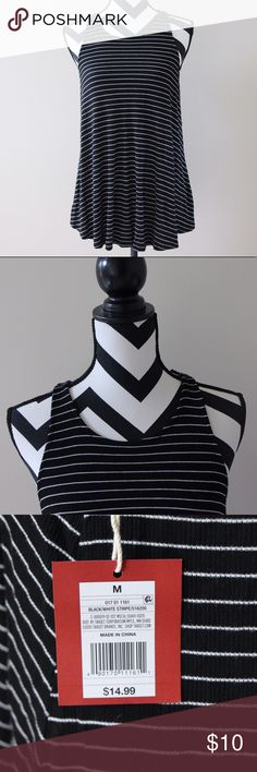 Flowy Striped Tank Top Perfect for summer! So beautiful and looks so chic. Tops Tank Tops