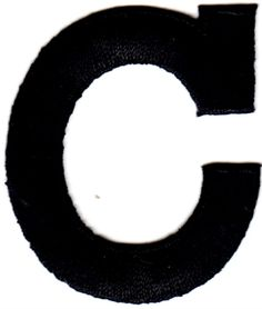 """Amazon.com: [Single Count] Custom and Unique (1 3/4"""" by 1 1/2"""" Inches) American Alphabet Monogram Letters Bold Letter C Iron On Embroidered Applique Patch {Black Color}: Arts, Crafts & Sewing"""
