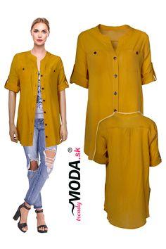 Trendy letná dámska košeľa vo veľkostiach i pre moletky. Trendy, Tunic Tops, Shirt Dress, Shirts, Dresses, Women, Fashion, Vestidos, Moda