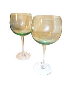 Green Tinted Balloon Goblets
