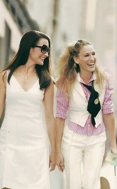 The clothes she borrowed from Stanford and Big. | 30 Of Carrie Bradshaw's Most Ridiculous Outfits