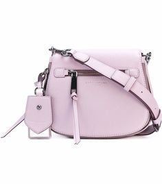 874535cd6e NWT Marc Jacobs Small Recruit Nomad Pebbled Leather Crossbody Saddle Bag  Lilac