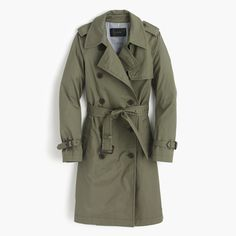 dress up or down a win/win - jcrew city trench.