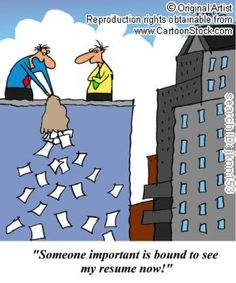 'Someone important is bound to see my resume now!' #resume #interviewing