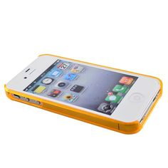 Plastic Bumper Frame Case for iPhone 4/4s (Orange)