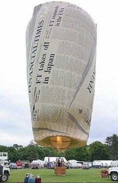 ~ UP, UP & AWAY ~ Newspaper Hot Air Balloon design