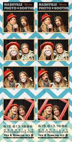 """Another view of one our exclusive overlay templates for the photo booth.  This """"Chevron"""" style has been a popular background this year!  www.briansnyderentertainment.com  www.nashvillephotobooths.com"""