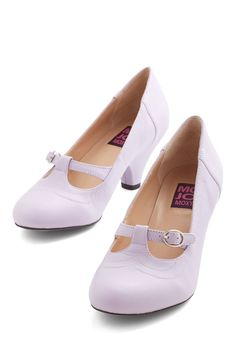 So Much Lovely Heel in Lilac. Theres so much to love about these T-strap heels by Mojo Moxy!