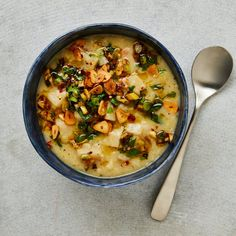 Three inspired ideas for soup: a chicken and black-eyed bean broth, a french onion number with Yemeni flavourings, and celeriac, garlic and rice with charred lemon salsa