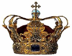 For the anointing of Christian V, a new Danish crown was made along with a throne of narwhal teeth (the unicorn's horn) and three silver lions. Made in 1670-71 by Made by Paul Kurtz in Copenhagen for King Christian V and was modeled after a crown worn by King Louis XIV of France. Prior to 1660 the crown was elective and there was no coronation in Denmark until absolutism became the style of rule. When the 1840 Constitution ended absolutism a coronation was no longer held.