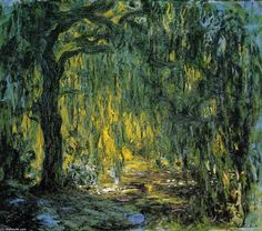 Acheter Tableau 'Saule Pleureur' de Claude Monet - Achat d'une reproduction sur toile peinte à la main , Reproduction peinture, copie de tableau, reproduction d'oeuvres d'art sur toile