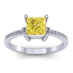 Inel logodna L31ASG cu safir galben si diamante