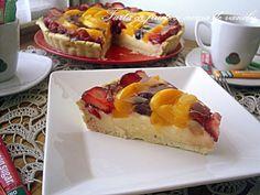 Arome si culori : Tarta cu fructe si crema de vanilie, cu Green Sugar