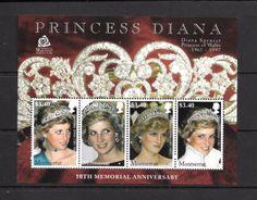 Montserrat Mi. Nr. 1384-1387 MNH Princess Diana