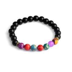 2016 New Fashion Black Stone Charm Men Bracelets Brand Vintage Adjustable Chain Chakra Beads Bracelets Women Jewelry  #Affiliate