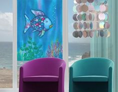 Window Mural he Rainbow Fish - Alone In The Open Sea window sticker window film window tattoo glass sticker window art window décor window decoration Size: 37.8 x 28.3 inches >>> Continue to the product at the image link. (This is an affiliate link) #WindowStickersandFilms