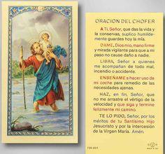 St. Christopher   driver prayer in spanish