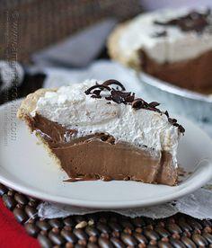 Homemade Baker's Square French Silk Pie from Amanda's Cookin @amandaformaro #dessert #chocolate
