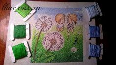 Схема для вышивки крестом. Cross stitch pattern. Нежные иллюстрации - Одуванчики