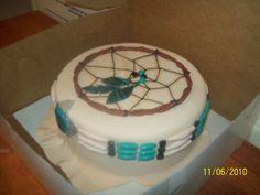 native american dreamcatcher bday cake — Birthday Cake Photos