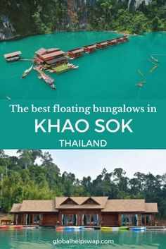 The best Khao Sok Floating Bungalows on the lake. If you are heading to Cheow Lan Lake you will want to stay on a floating bungalow. Check out this list before booking. Make sure you trek kayak and observe the wildlife in Khao Sok National Park Thailand. Thailand Destinations, Thailand Travel Guide, Amazing Destinations, Asia Travel, Thailand Vacation, Croatia Travel, Bangkok Thailand, Hawaii Travel, Holiday Destinations